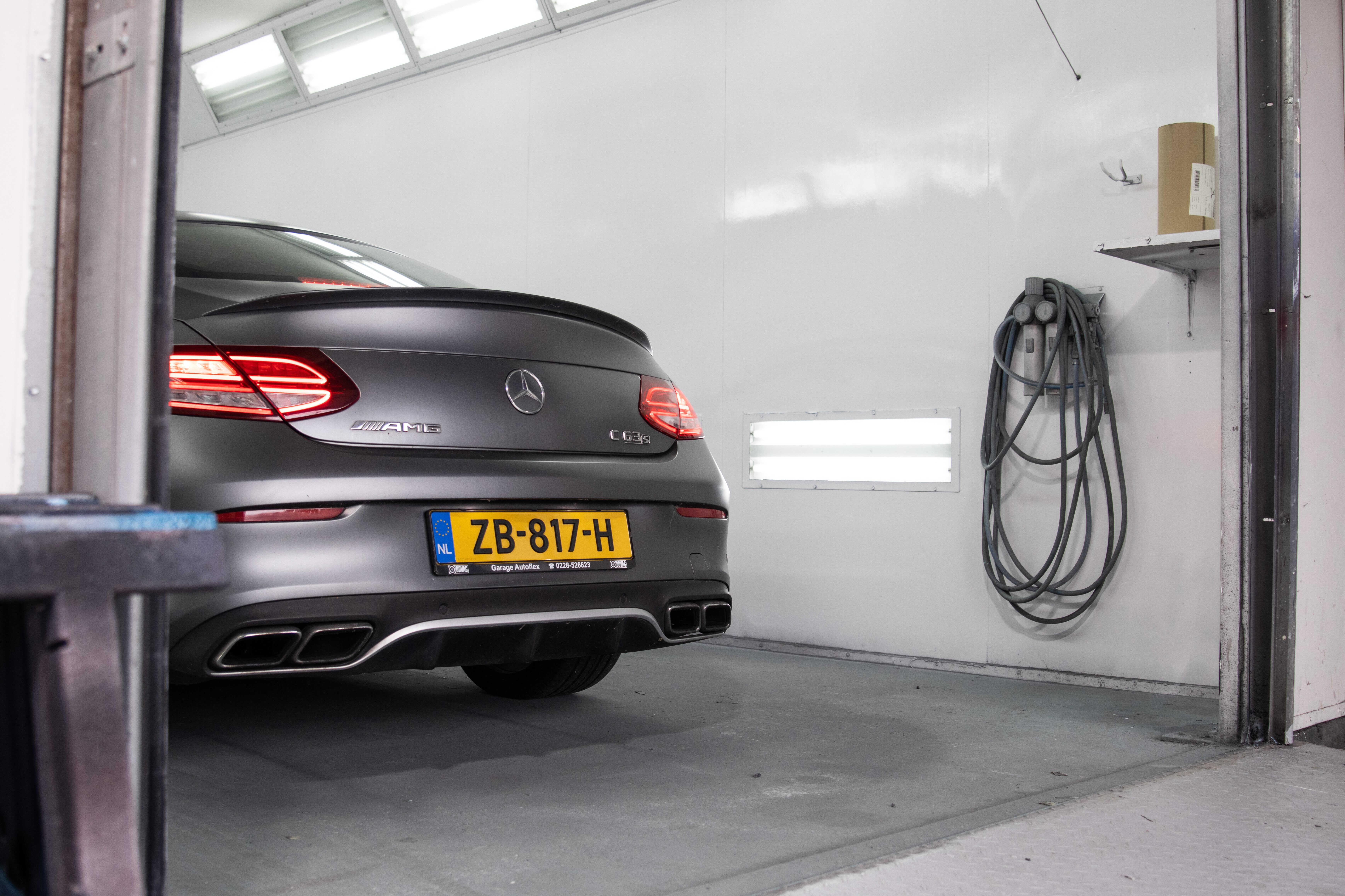 Autospuiterij Mercedes